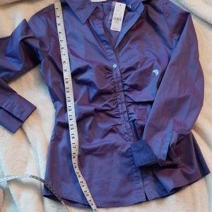 New York & Company Tops - Purplish blue button down blouse